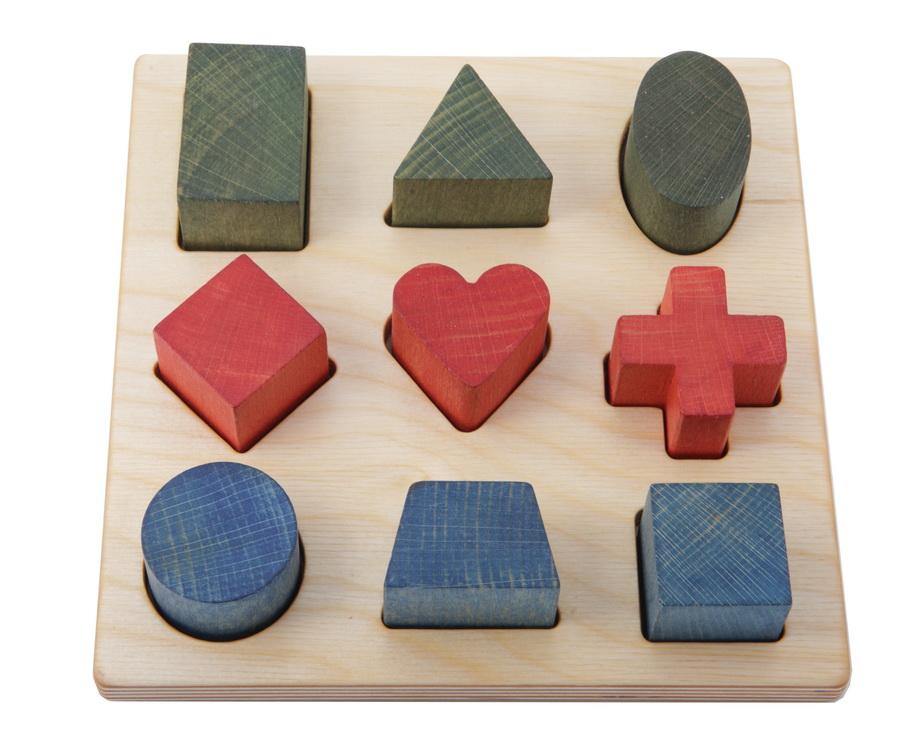 Spielzeug ab 1 Jahr Holzpuzzle Baby