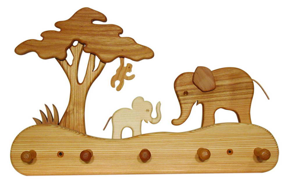 kindergarderobe elefant aus holz carelino spielzeug mit herz. Black Bedroom Furniture Sets. Home Design Ideas